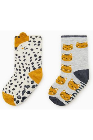 Zara Pack dos calcetines tigre