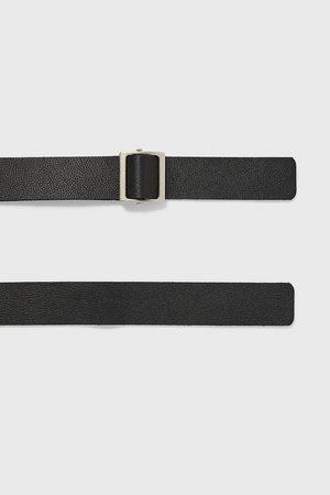 Zara Cinturón piel pasador