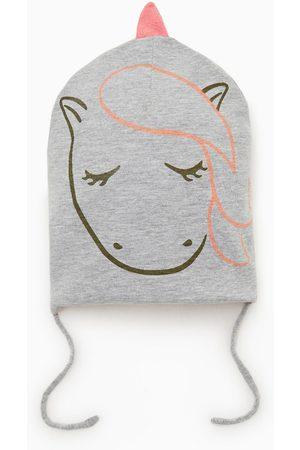 Zara Gorro reversible unicornio