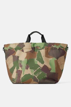 Zara Bolso shopper acolchado camuflaje