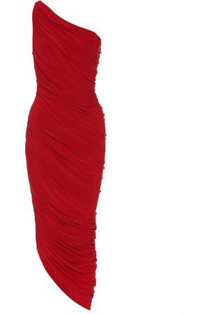 Norma Kamali Vestido midi Diana de un solo hombro