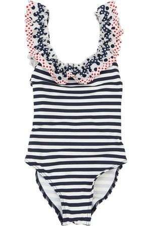 SELINI Striped Lycra One Piece Swimsuit
