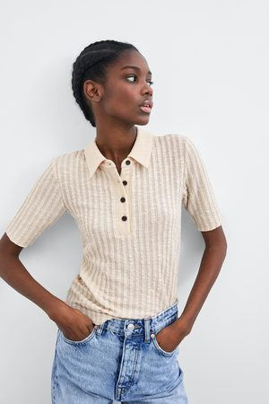 Zara Camiseta cuello polo
