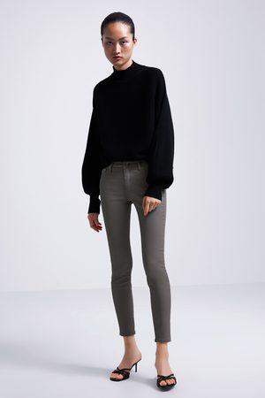 Zara Jeans zw premium skinny coated grey