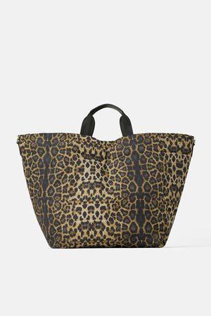 Zara Bolso shopper acolchado estampado animal