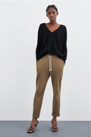 Zara Mujer Joggers - Pantalón jogger básico
