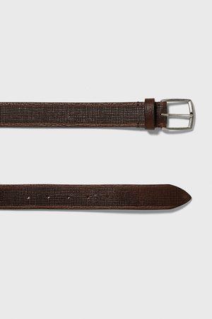 Zara Hombre Cinturones - Cinturón piel grabados