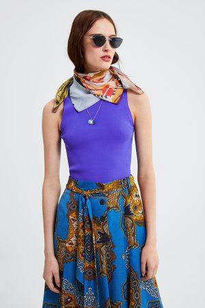 Zara Mujer Estampadas - Falda estampada