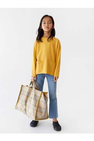 Zara Shopper cuadros tejido