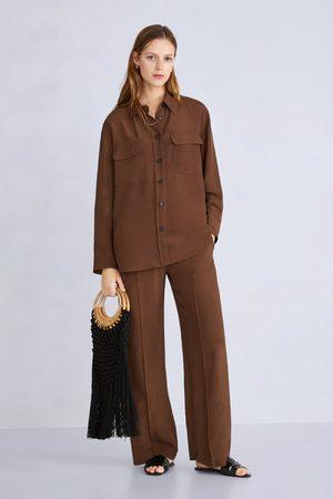 Zara Bolso shopper trenzado bambú
