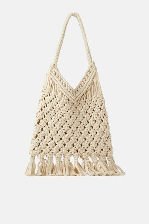 Zara Bolso shopper crochet
