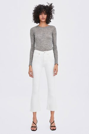 Zara Mujer Vaqueros - Jeans mid rise cropped flare