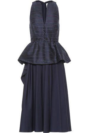Rosie Assoulin Vestido midi de mezcla de algodón