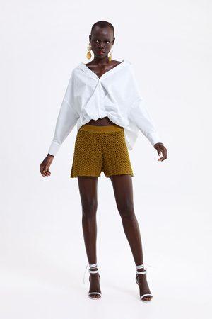 Zara Mujer Bermudas - Bermuda punto crochet