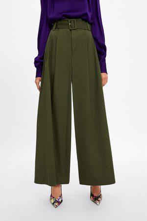 b2c7aa800b Pantalones Anchos de mujer Zara baratos ¡Compara 68 productos y ...