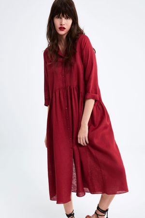 variedad de diseños y colores precio de calle baratas para descuento Vestido largo lino