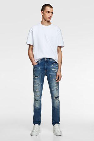 Zara Jeans skinny rotos