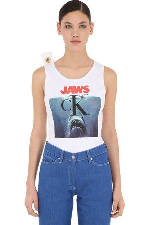 Calvin Klein Camiseta De Algodón Jersey Con Estampado