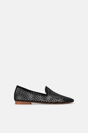 Zara Mujer Planos - Zapato plano troquelado