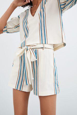 Zara Short rústico rayas