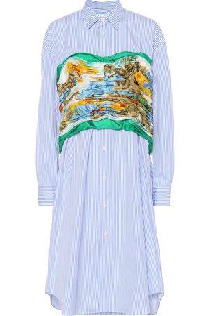 JUNYA WATANABE Camisa de algodón y seda con bustier