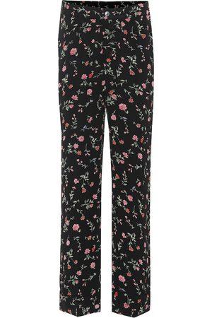 Ganni Pantalones de crepé floral