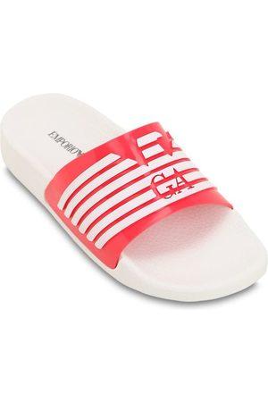 EMPORIO ARMANI | Niña Sandalias De Goma Con Logo Estampado /rojo 33