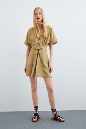 Zara Vestido botones bolsillos