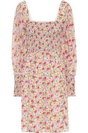 Ganni Exclusivo en Mytheresa – Vestido corto de georgette floral
