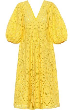 Ganni Exclusivo en Mytheresa – Vestido de algodón con bordado inglés