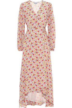 Ganni Exclusivo en Mytheresa – Vestido wrap de georgette floral