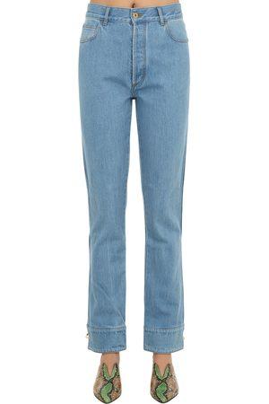 MARQUES'ALMEIDA Jeans De Denim De Algodón Con Vueltas En Bajos