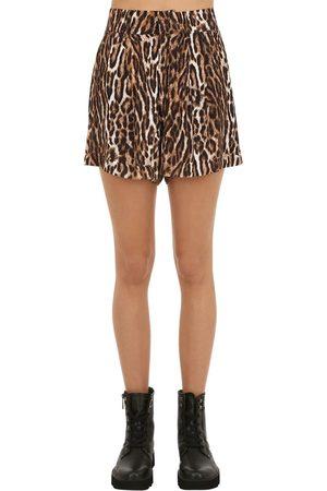 R13 | Mujer Shorts De Viscosa Con Estampado 24