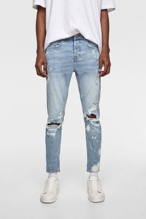 Zara Jeans skinny efecto dripping
