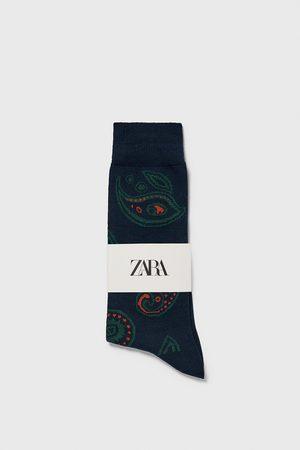 Zara Calcetín jacquard paisley