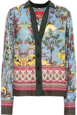 F.R.S For Restless Sleepers Camisa Anaideia de seda estampada