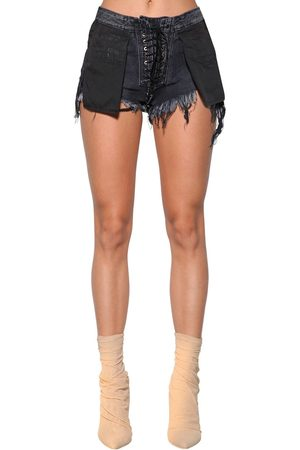 "UNRAVEL Shorts ""stone 10"" De Denim Que Se Anuda"