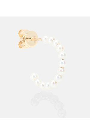 SOPHIE BILLE BRAHE Arete único Marco de oro de 14 ct y perlas