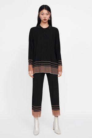 Zara Polo oversize rayas