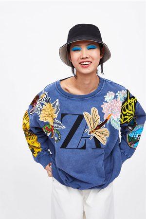 Zara Sudadera logo combinada