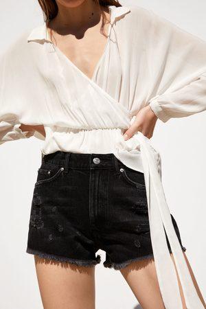Zara Mujer Vaqueros - Short denim rotos