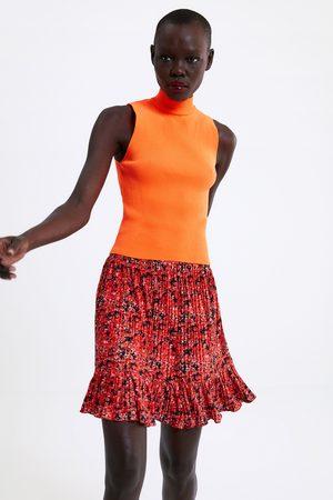 Zara Mujer Minifaldas - Falda mini plisada