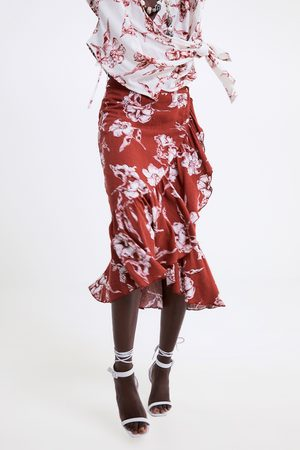 Zara Falda estampado floral volante