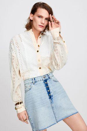 Zara Falda mini zw premium button fly