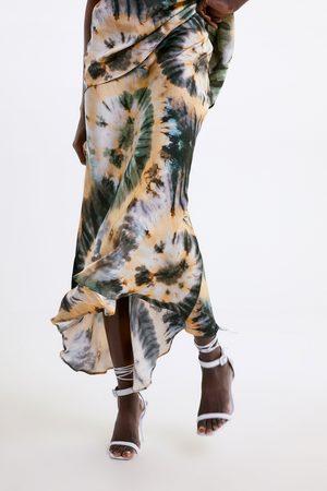 Zara Mujer Estampadas - Falda estampado tie dye
