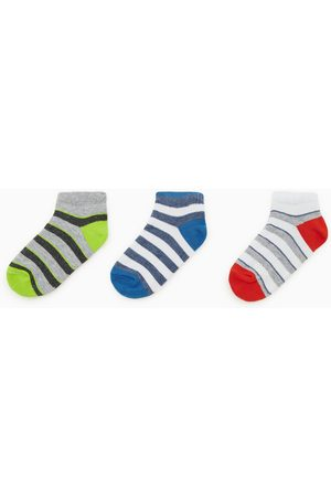 Zara Pack tres calcetines cortos rayas