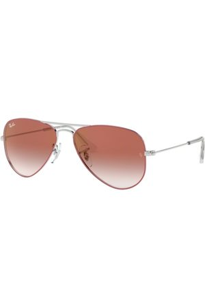 Ray-Ban Junior Aviator RJ9506S 274/V0 Silver ON TOP RED