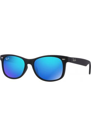 Ray-Ban RJ9052S 100S55 Matte Black Blue Mirror
