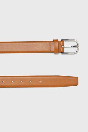 Zara Cinturón piel color
