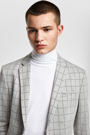 Zara Hombre Blazers - Blazer conjunto confort knit cuadros 4 ways